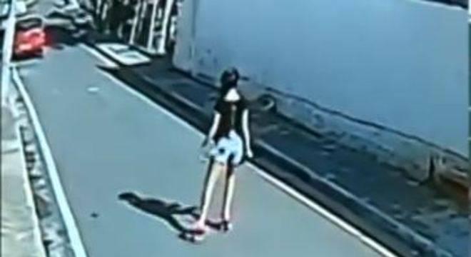 Última imagem da menina Vitória viva em Araçariguama