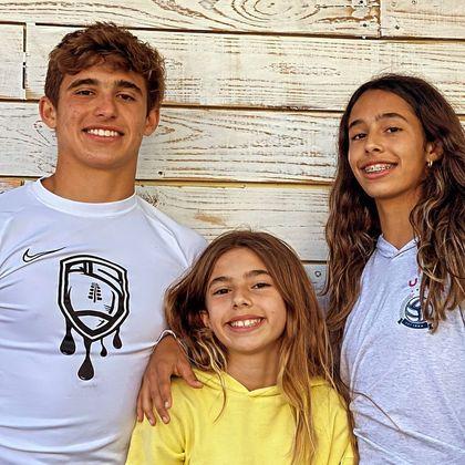 Nas redes socais, os futuros atletas Davi, Vitoria e Kyara estão sempre juntosLeia também:Joana Prado e filha sofrem grave acidente de carro: 'Horrível'