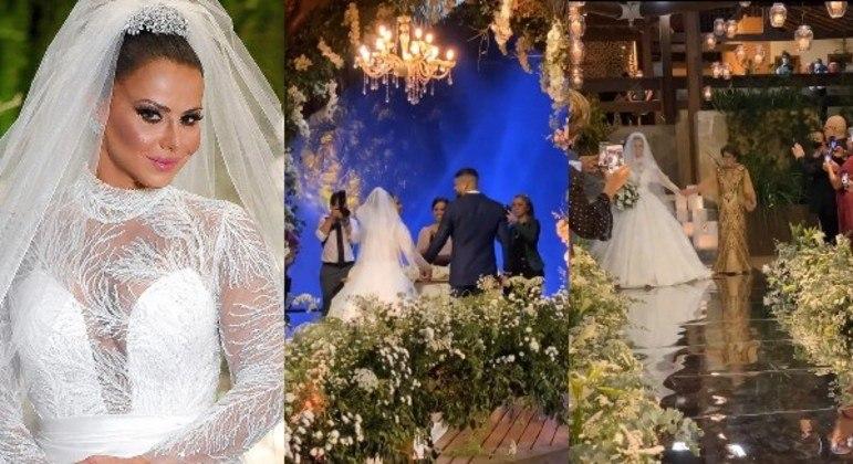 Pombinhos já são casados no civil e oficializaram a união com uma cerimônia religiosa