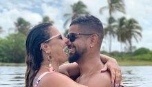 Horas antes do casamento, Viviane Araújo se declara a Guilherme
