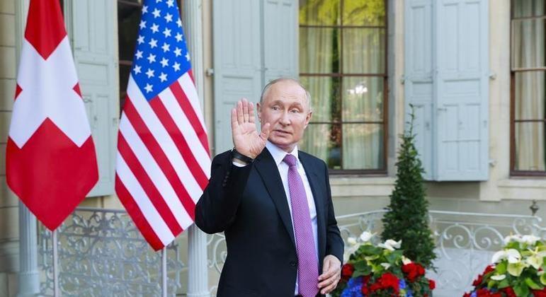 Putin participou de cúpula com Joe Biden em Genebra, na Suíça