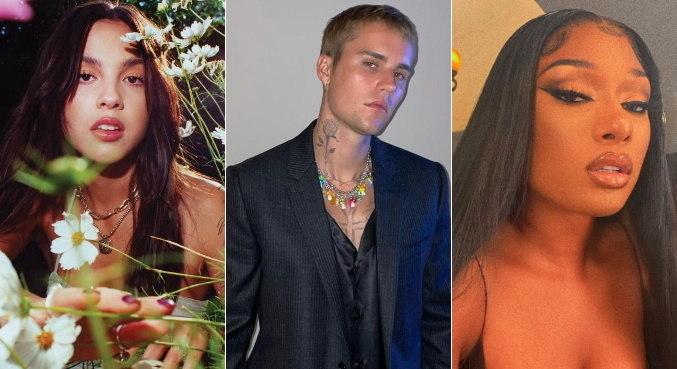 Olivia Rodrigo, Justin Bieber e Megan Thee Stallion concorrem ao VMA 2021