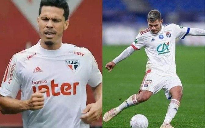 Volante reserva: Hernanes (atualmente no São Paulo) x Bruno Guimaraes  (atualmente no Lyon)