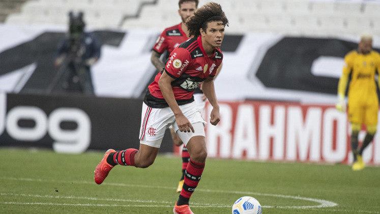Volante reserva: Willian Arão (Flamengo) - quatro votos.