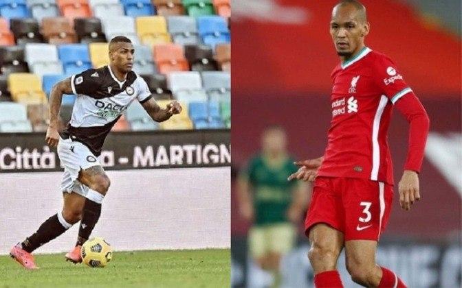 Volante: Walace (atualmente na Udinese) x Fabinho (atualmente no Liverpool)
