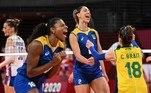 VÔLEI FEMININO - A seleção feminina de vôlei venceu a Sérvia por 3 sets 1, garantiu o primeiro lugar do Grupo e está na próxima fase.