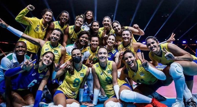 Seleção feminina que disputou a Liga das Nações