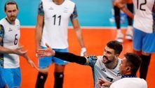 Vôlei masculino: Argentina perde e enfrenta o Brasil pelo bronze