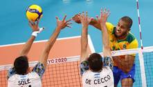 Brasil perde para a Argentina e fica sem medalha no vôlei