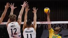 Brasil vence os EUA e encaminha classificação no vôlei masculino