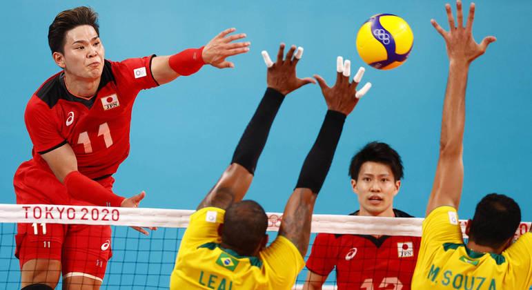 Brasil enfrentou o Japão na Olimpíada de Tóquio-2020