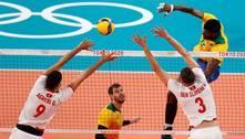 Brasil vence Tunísia na estreia do vôlei masculino em Tóquio