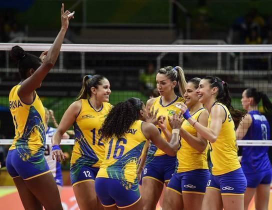 A seleção feminina ficou nas quartas de final nas Olimpíadas do Rio 2016