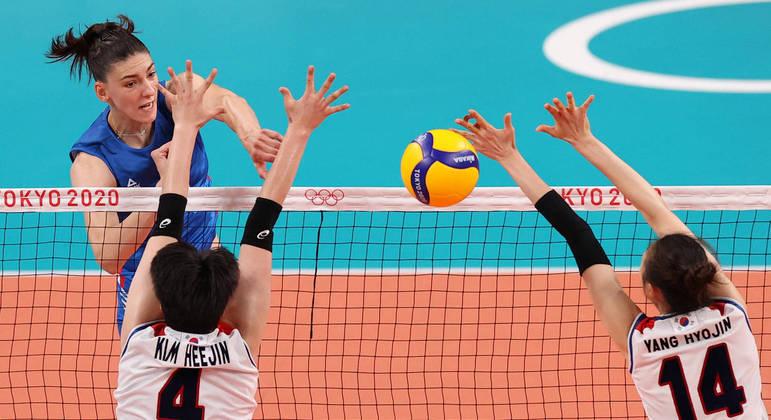 Tijana Boskovic marcou 33 pontos da Sérvia na disputa do bronze contra a Coreia do Sul