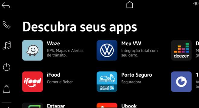 Volks Play tem parceria com aplicativos como iFood, Waze, Porto Seguro e Deezer