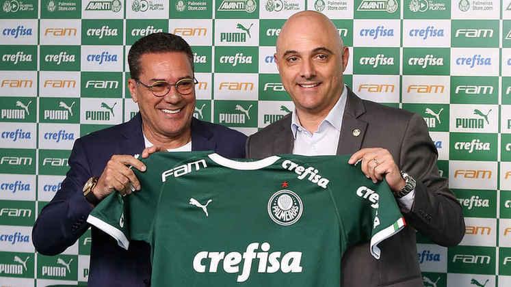 Volta de outro velho conhecido: O Palmeiras amargou eliminações em 2019 e teve Felipão e Mano Menezes como técnicos. O presidente Maurício Galiotte prometeu mudança de postura, mas recorreu a outro nome conhecido da torcida: Vanderlei Luxemburgo.