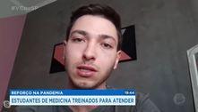 Reforço na pandemia: estudantes de medicina treinados para atender