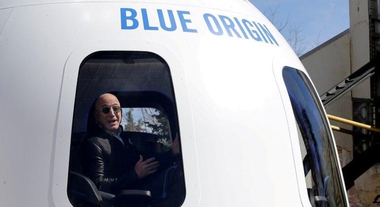 Cápsula da Blue Origin que será lançada ao espaço na próxima semana