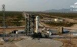 Bezos foi lançado em um foguete por volta das 10h (horário de Brasília) de uma base no Texas, nos Estados Unidos