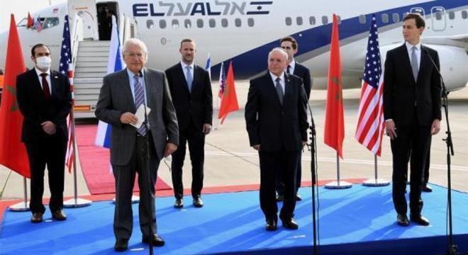 Delegação foi encabeçada por Jared Kushner, genro de Donald Trump, e foi o primeiro voo comercial entre Marrocos e Israel