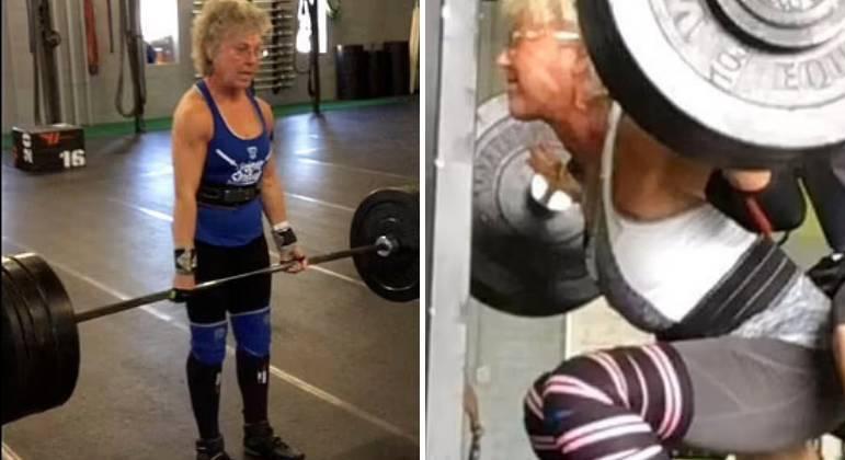 Apesar de muitos afirmarem que ela está velha demais para praticar levantamento de peso, Mary não se importa nem um pouco.