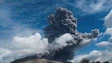 Vulcão na Indonésia entra em erupção pela 2ª vez em 3 dias