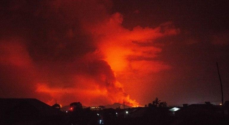 Nyiragongo entrou em erupção na noite de sábado