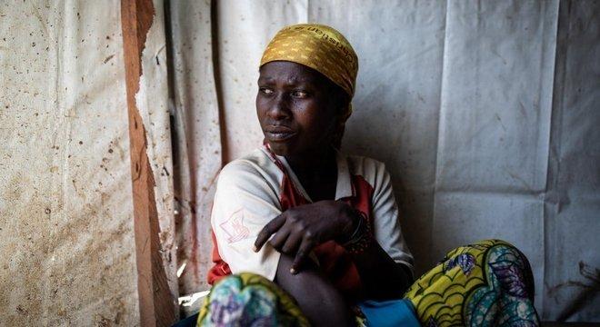 Vumuli, de 35 anos, é uma deslocada forçada na República Democrática do Congo