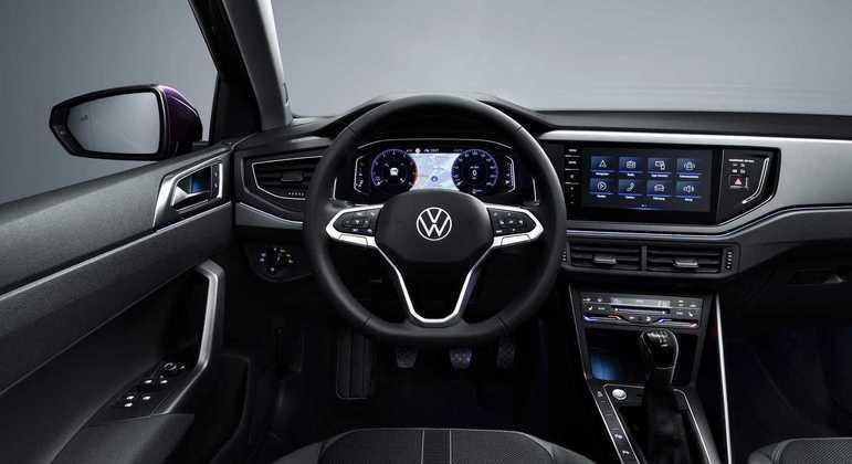 Interior passa a ter painel de instrumentos digital de série com tela de 8 polegadas