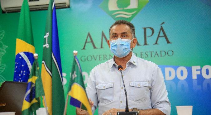 O governador do Amapá, Waldez Góes (PDT), que teve teste positivo para covid-19