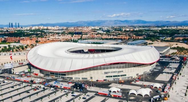 Em Madrid, o Wanda, o lindo palco da decisão