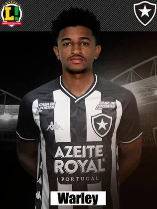 Warley: 5,5 – Entrou no segundo tempo e ajudou a tornar o Botafogo mais ofensivo. No entanto, desperdiçou uma boa chance no logo nos seus primeiros minutos em campo.