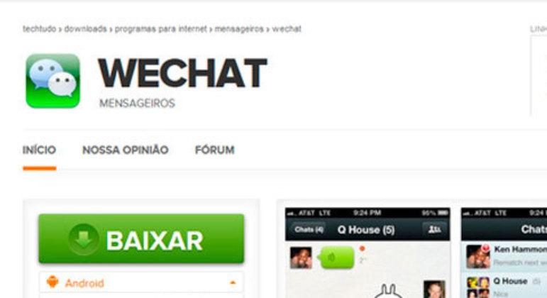 WeChat tentou competir fortemente com o WhatsApp no Brasil há alguns anos, mas tem grande força na China. Ele traz os mesmos recursos dos outros aplicativos citados e tem a possibilidade de se conectar com o Facebook, para encontrar contatos rapidamente.
