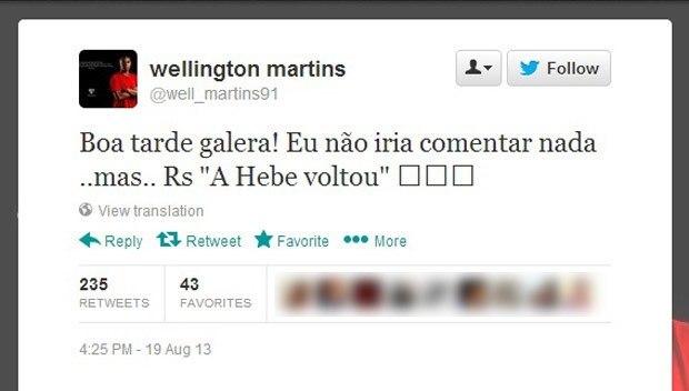 """Welligton não perdoou Sheik pelo beijo. E ironizou. """"Aqui (no São Paulo) , não"""""""