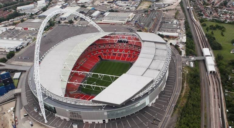 O magnífico Estádio de Wembley, em Londres, Inglaterra