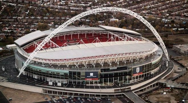 O estádio de Wembley, palco da decisão da Eurocopa de 2020