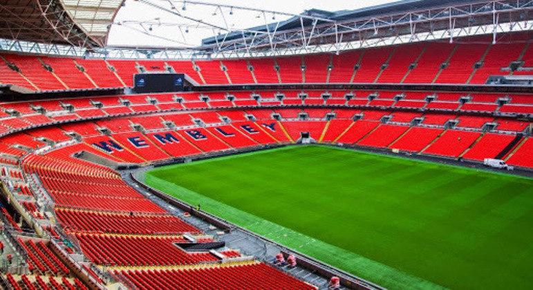 Detalhe do estádio de Wembley de Londres