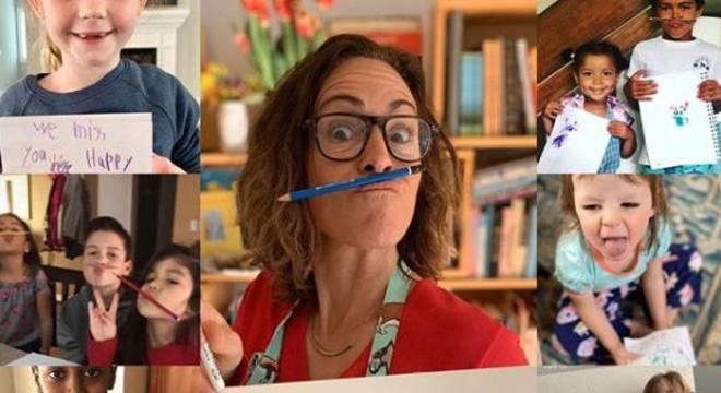 Wendy MacNaughton dá aula de desenhos online para crianças