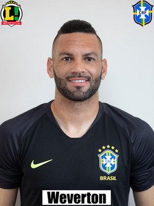 Weverton - 6,0: O goleiro do Brasil fez boas defesas durante a partida, mas não conseguiu evitar dois gols do Peru. No primeiro, foi surpreendido pelo chute forte de Carrillo. No segundo, ficou vendido pelo desvio de Rodrigo Caio e nada pôde fazer.
