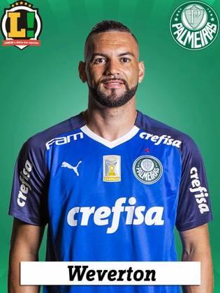 WEVERTON - 7,0 - No início da partida, foi pouco acionado na defesa, mas colaborou decisivamente para o terceiro gol do Palmeiras ao dar grande lançamento para Veiga, que armou a jogada. No fim da primeira etapa, fez grande defesa após uma cabeçada de Ryller. Não teve culpa no lance do gol adversário.