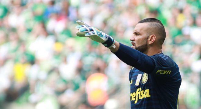 c7a9072948 Weverton chegou ao Palmeiras no início de 2018 e se firmou com Felipão