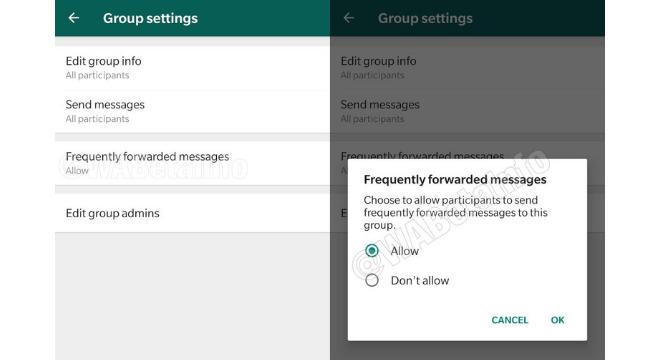 Usuários poderá decidir que irá ou não receber as mensagens compartilhadas em excesso