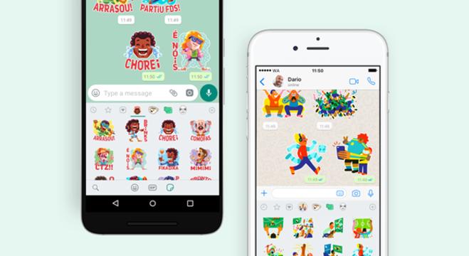 WhatsApp cria sticker exclusivos para o usuários brasileiros