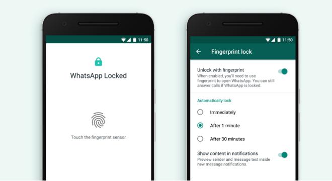 WhatsApp libera o bloqueio no aplicativo por impressão digital