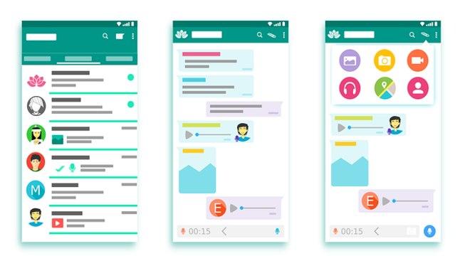 Mensagem de voz no WhatsApp