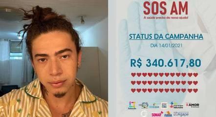 Whindersson Nunes pede ajuda para Manaus com SOS AM