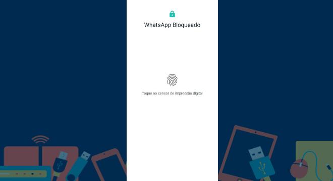Pronto, agora toda vez que abrir o aplicativo de conversa depois do tempo determinado, ele solicitará o desbloqueio por impressão digital