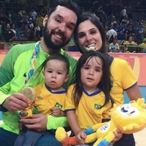 Mago com a família na Rio 2016
