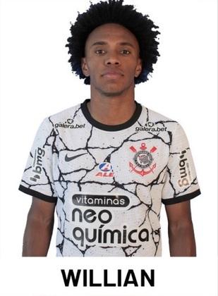 Willian - 6,5 - Fez um bom primeiro tempo, sendo peça importante no ataque. Fez bela jogada no lance em que foi marcado o pênalti a favor do Corinthians. Saiu no intervalo do jogo por questões físicas.