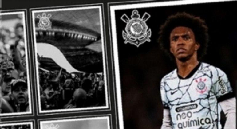 Willian anunciado no Corinthians